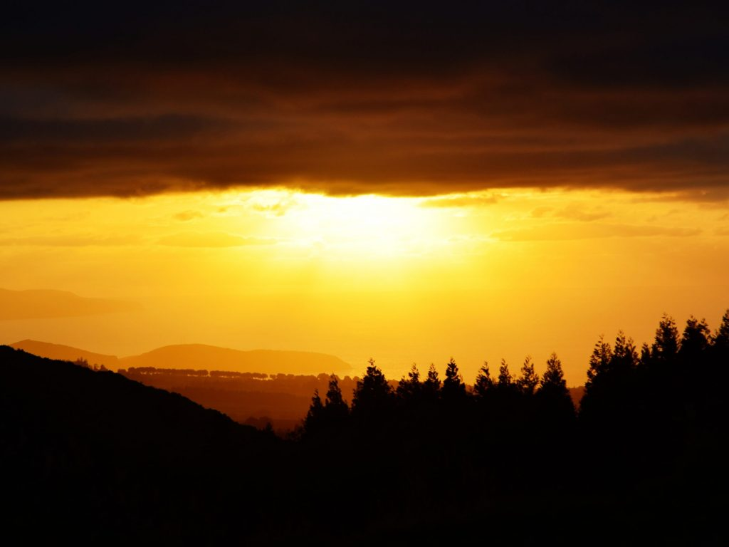 Sunset over São Miguel