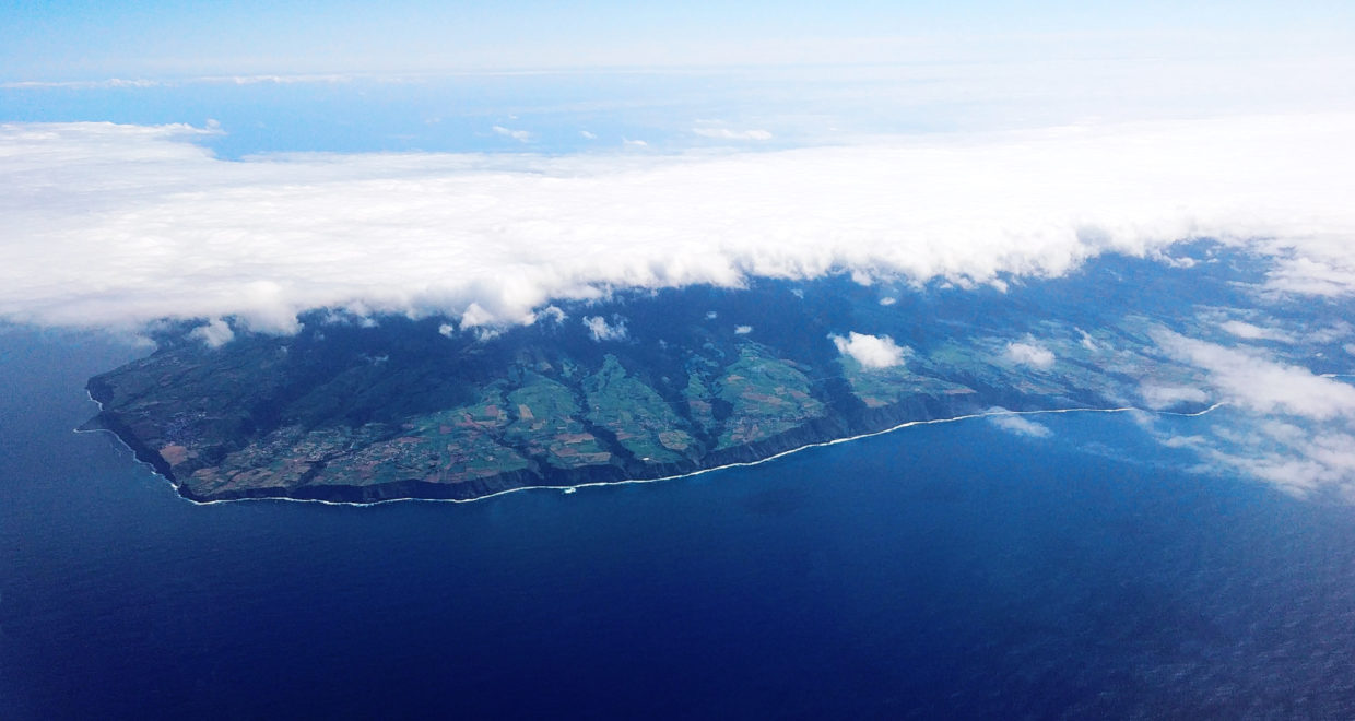 Approach to São Miguel from northeast