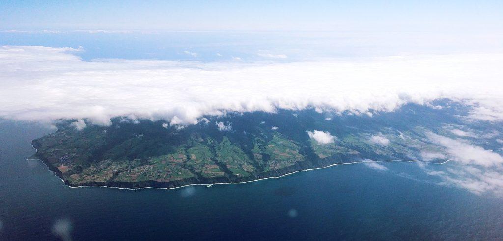 Anflug auf São Miguel