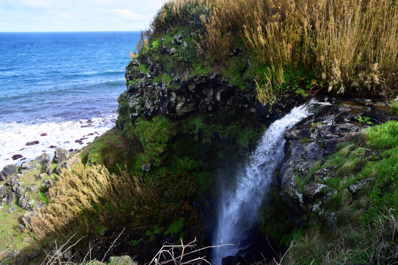 Waterfall at Praia da Viola