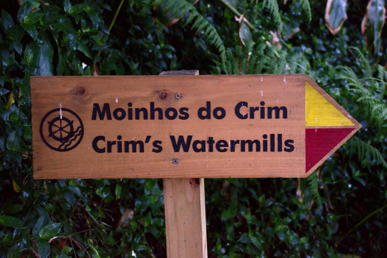 Signpost to the Moinhos do Crim
