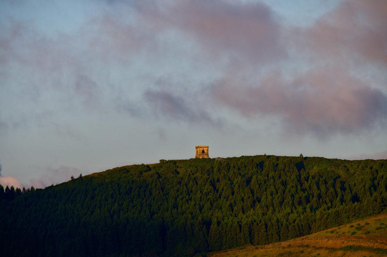 Castelo Branco during the sunrise seen from the Pico do Ferro