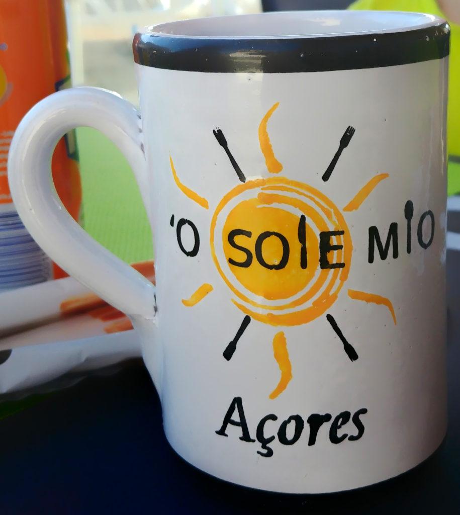 O Sole Mio-Tasse von der Cerâmica Micaelense