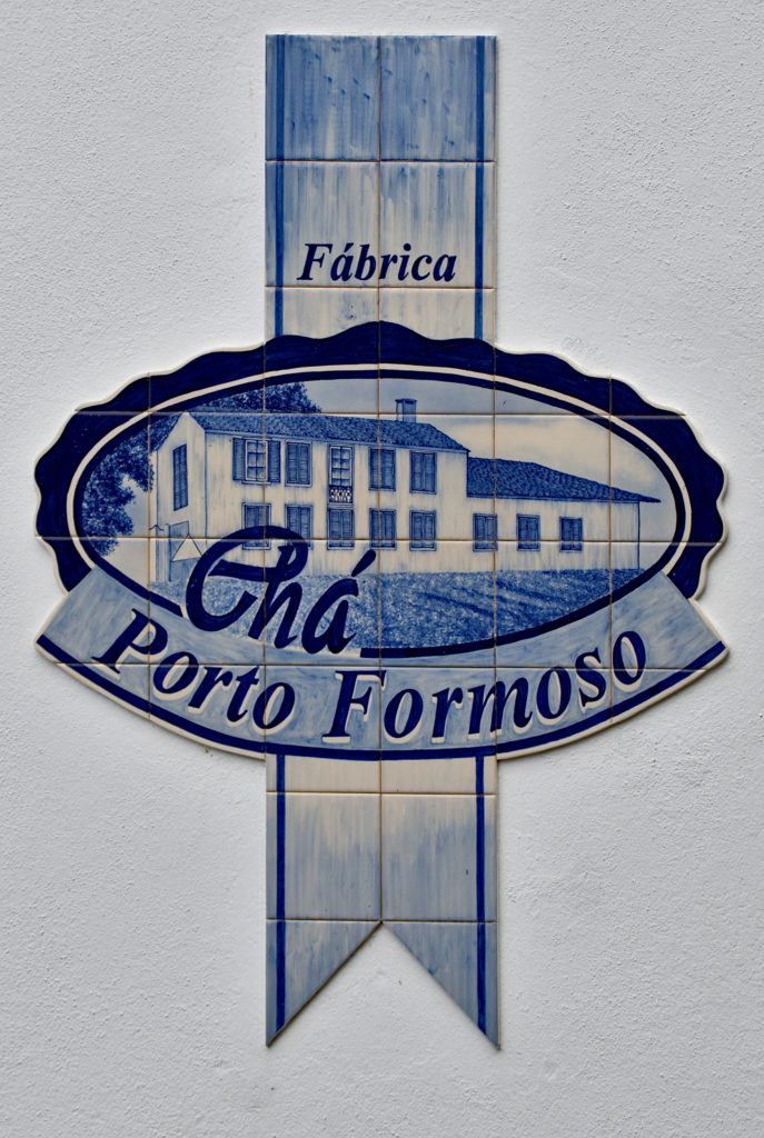 "Logo of the tea plantation ""Chá Porto Formoso"""