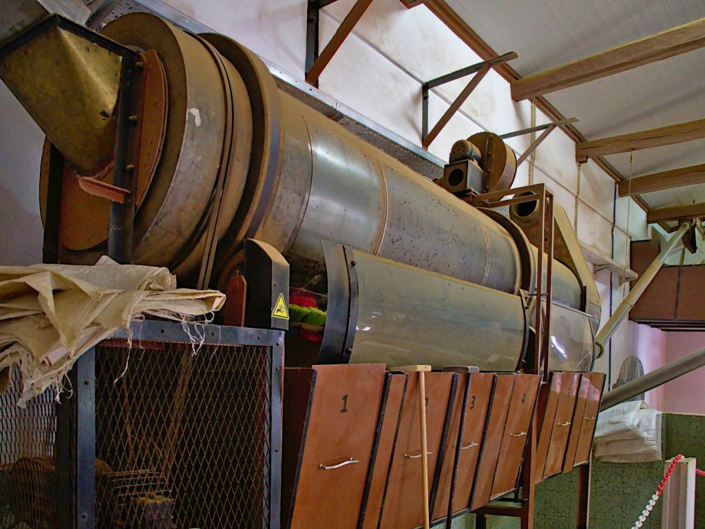 Machines in the tea factory at Chá Gorreana