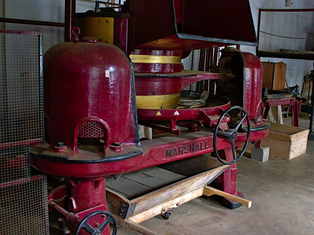 "Machines to ""roll"" the tea leaves in the tea factory at Chá Gorreana"