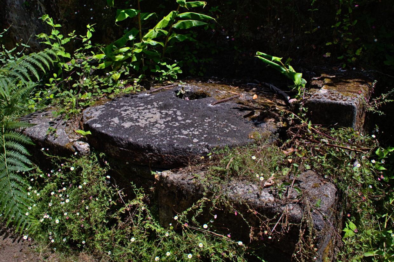 Millstone of an old watermill nearby the Ribeira do Faial da Terra
