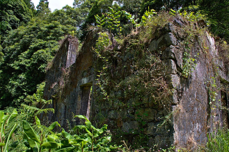 Ruin of the old mill nearby the Ribeira do Faial da Terra