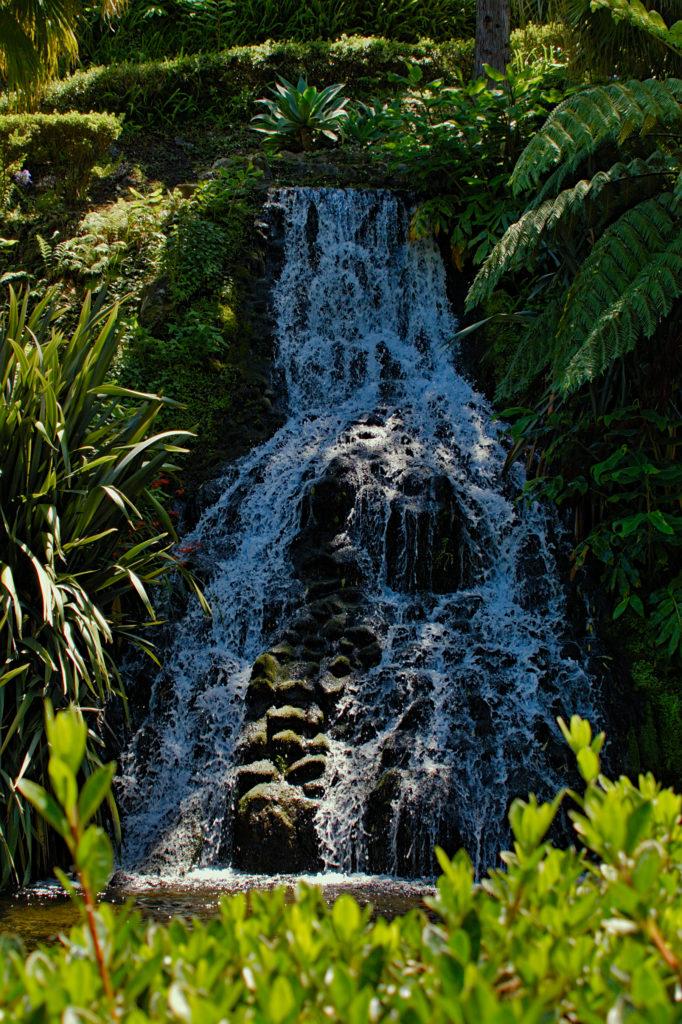 Waterfall in the Jardim da Ribeira do Guilherme
