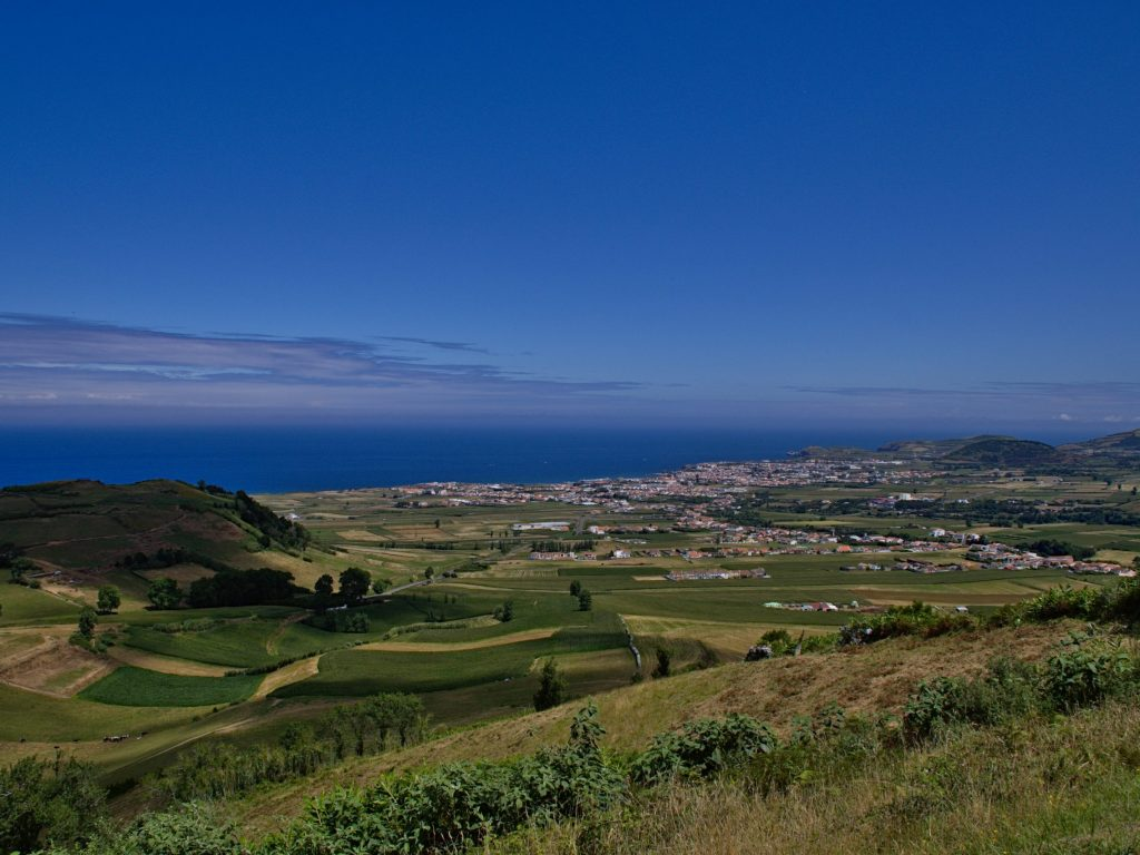 View towards Ribeira Grande from the path to Pico Queimado