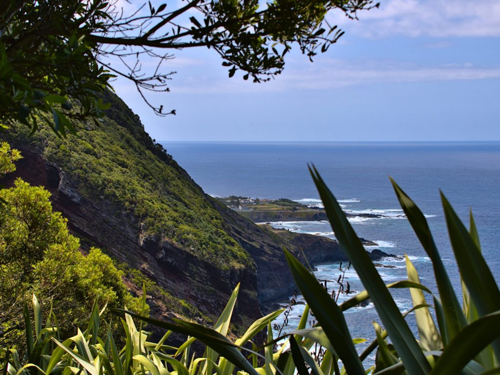 Coast at Pico da Mafra with a view of Mosteiros