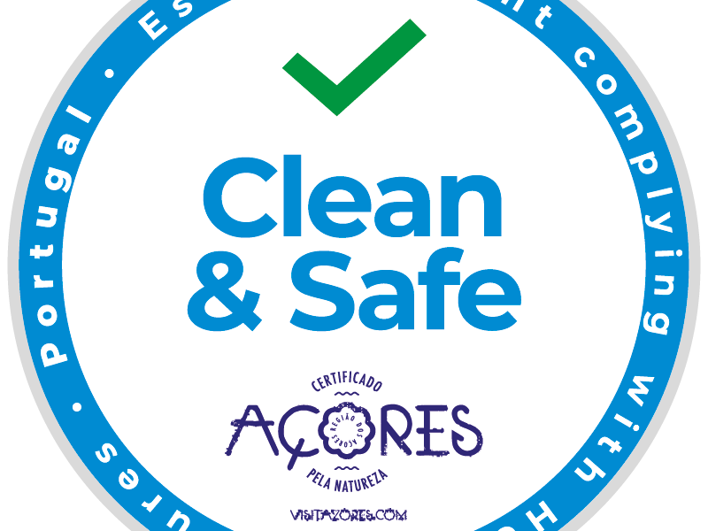 Clean & Safe Açores - Establishment complying with Health Measures - Portugal